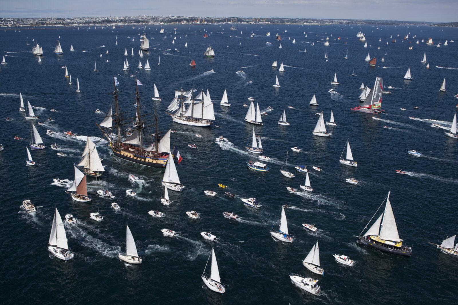Navigation en Rade de Brest lors des Fetes Maritimes Internationales de Brest 2016 - le 15/07/2016