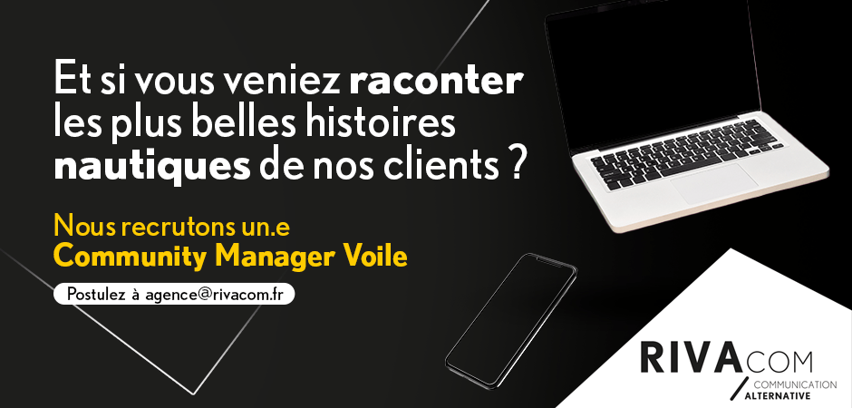 Recrutement community manager voile Rivacom
