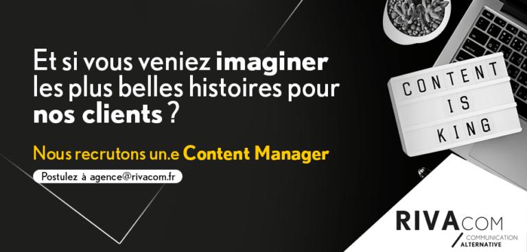 Recrutement Content Manager Rivacom Rennes