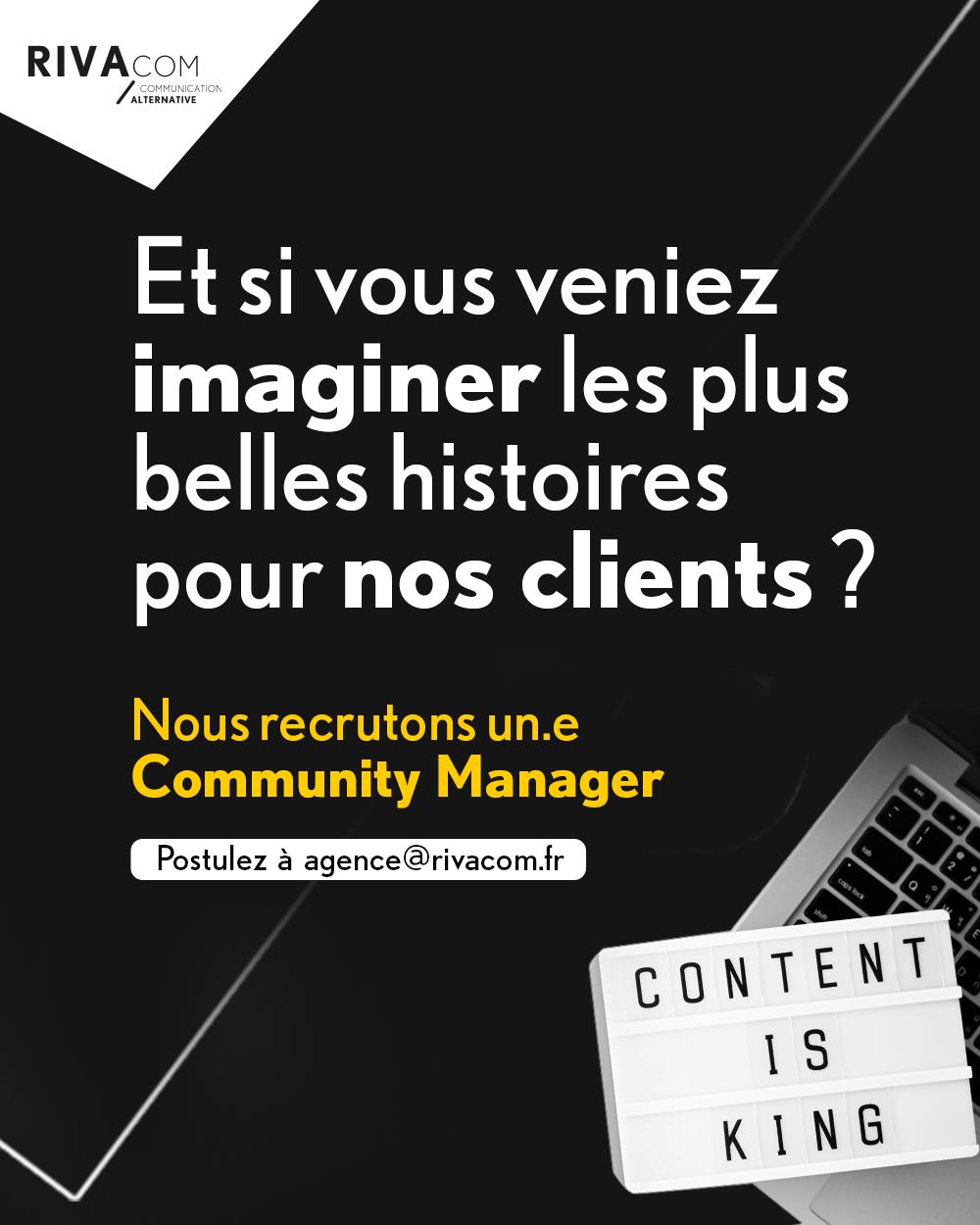 Read more about the article Rivacom recrute un(e) Community Manager H/F à Brest – CDI