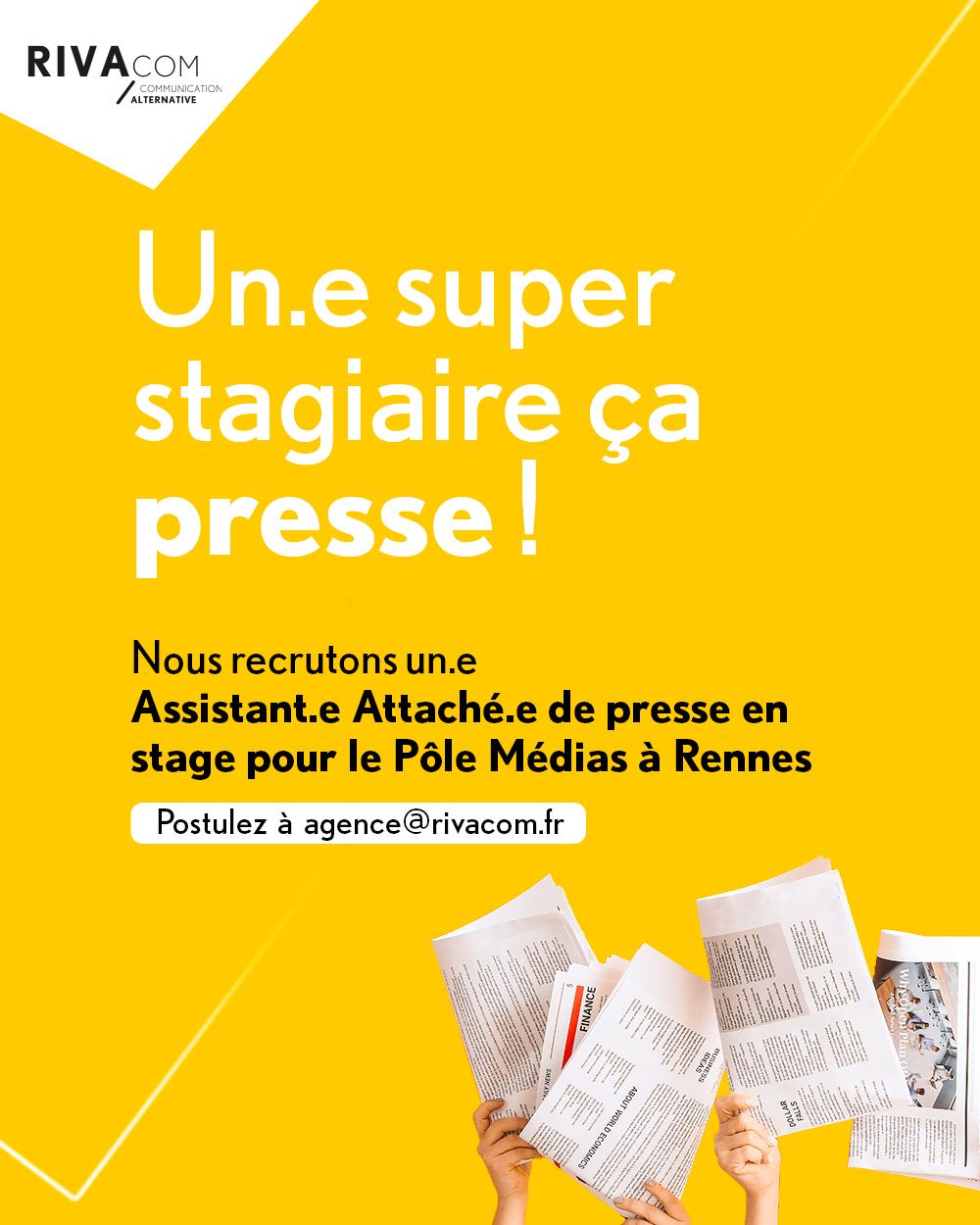 Read more about the article Nous recrutons un.e attaché.e de presse en stage